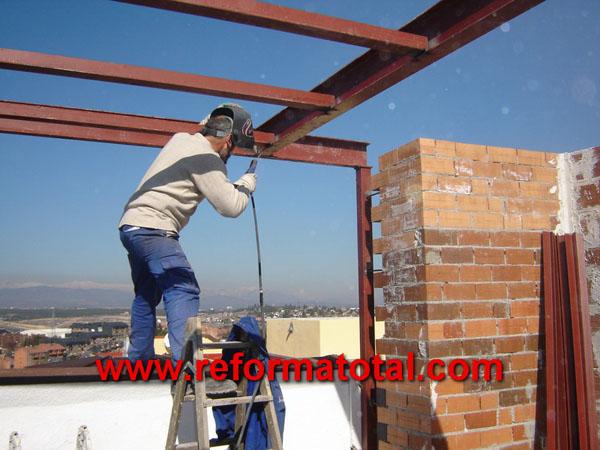 004 233 fotos de soldaduras estructuras metalicas for Estructuras de hierro para casas