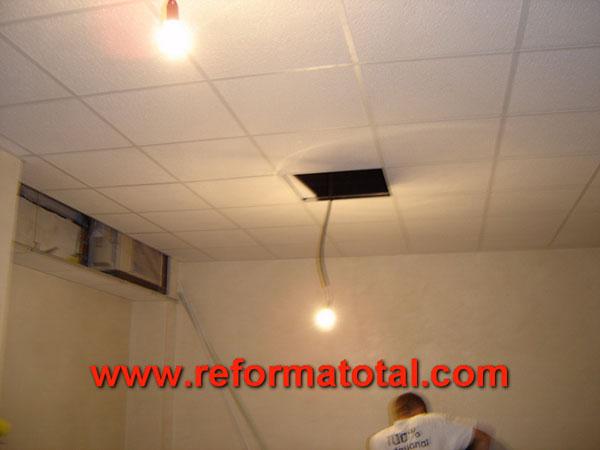 Extractor Baño Falso Techo:Falsos Techos en Madrid * Empresa Instaladora de Techos Falsos
