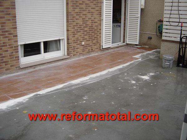 09 01 fotos solados exteriores reforma total en madrid Precio baldosa terrazo