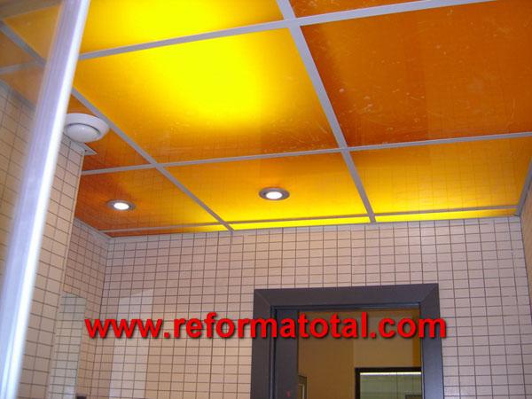 12 06 fotos techos de ba os falsos techos en madrid - Iluminacion techo bano ...