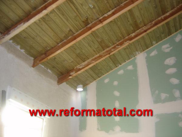 rehabilitar techos tejado madera - Falsos Techos De Madera