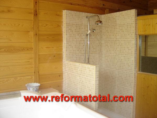 25 08 fotos construccion ba o reformas ba os en madrid - Banos platos de ducha ...
