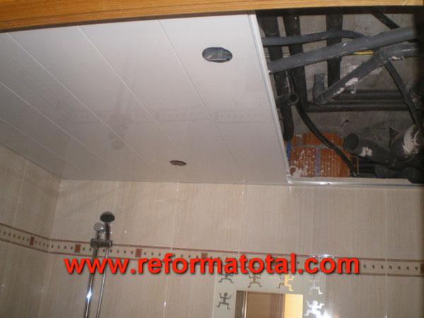 041 005 fotos de falso techo aluminio im genes de falso for Techos desmontables para banos