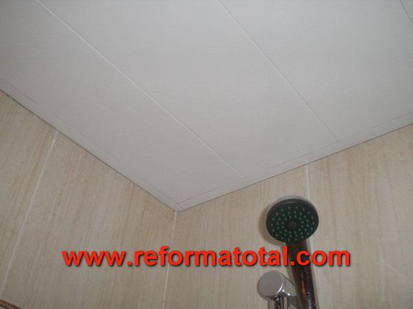 041 020 fotos de instalacion techo aluminio ba o for Techos desmontables para banos
