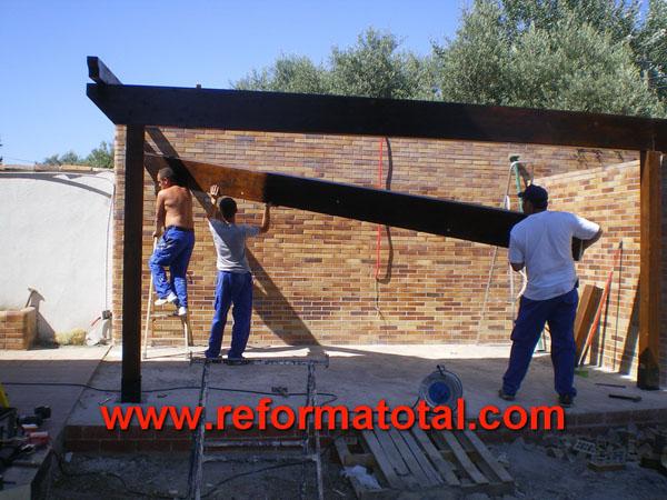 046 03 fotos construccion porches reformas integrales en - Construccion de porche de madera ...