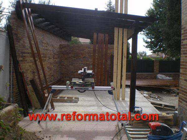 046 05 fotos techos de tejas falsos techos en madrid for Tejados de madera para porches