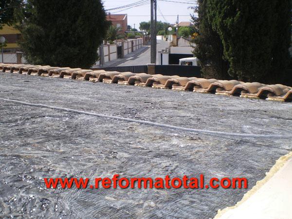 046 05 fotos techos de tejas fotos de reformas y for Tejados de madera con tela asfaltica