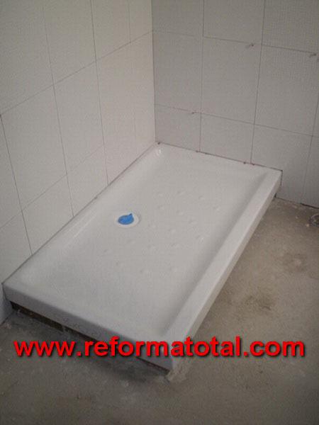 047 08 fotos duchas de obra reforma total en madrid for Piso ducha bano