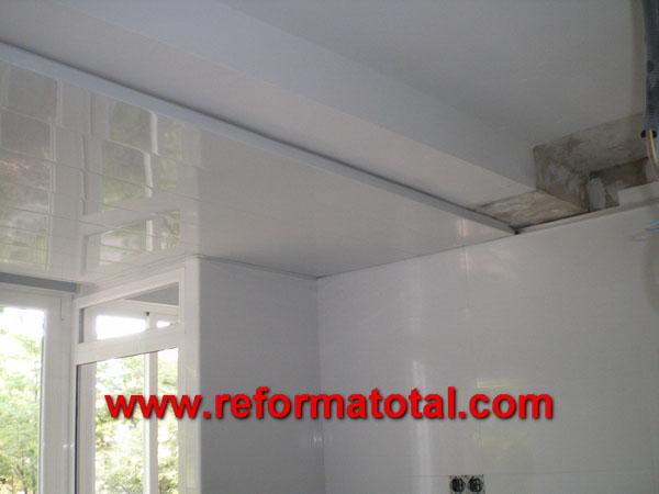 050 02 fotos falso techo aluminio reforma total en for Lamas aluminio techo