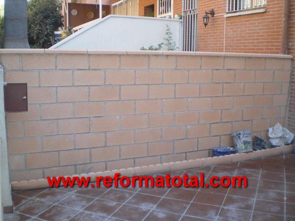 052 imagenes cerramientos vallas reforma total en - Muros decorativos para exteriores ...