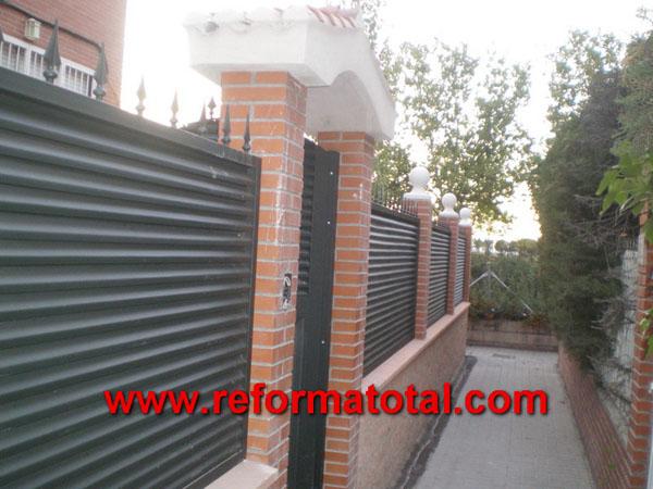 052 12 fotos vallas metalicas reforma total en madrid - Cerramientos de patios exteriores ...