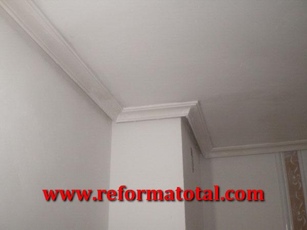 053 02 imagenes ba os travertino fotos de reformas y for Molduras de escayola modernas