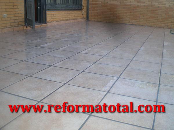 055 10 fotos pavimentos gres exteriores reforma total - Obras y reformas madrid ...